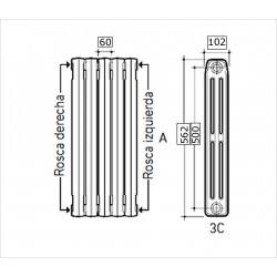 ARM. REGULACION A-25 CAUDAL 25m3/h SALIDA 55mbar PE20